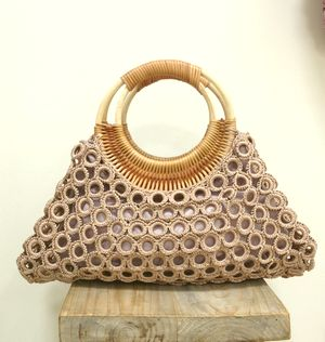 Ring Bag * beige pink