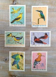 Antique Stamp  birds