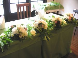 Bridal Flower Main Table